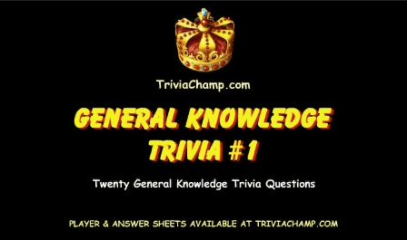 General Knowledge Trivia Video 1