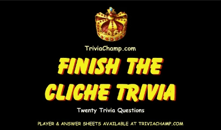 Finish the Cliche Trivia Video