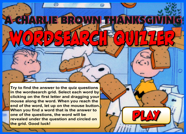 Thanksgiving Word Search Quiz